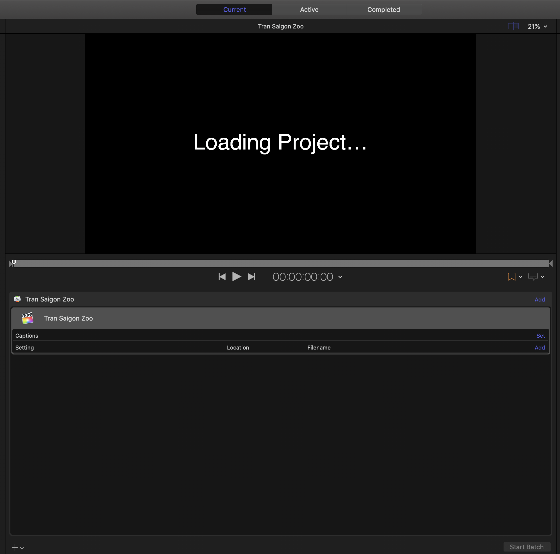 23. Wait for project to finish loading.